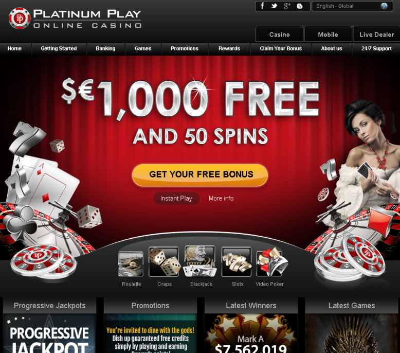 Platium play casino gambling losses year